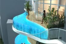Apartments with Balcony Pools  in India    / Pools are the new balconies — literally, it seems. A skyscraper under construction in Mumbai , India , not only includes more than 200 apartments, three levels of car parking, a gym and sauna, but it also features pools on the edges of several balconies. Called the Aquaria Grande, the two 37-story towers were designed by architect James Law and the real estate company Wadhwa Group. It's just the latest building to push the boundaries of conventional homes in India . With 228 #apartments. / by timespliters
