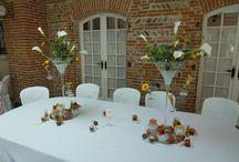 Décoration de table mariage en vase martini / Décoration de table mariage en vase martini
