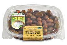 GastronomiaGourmet 1EURO (olive in vaschette da 120g trays) / Vaschetta preconfezionata è termosaldata da 120g. prezzo di mercato 1€ tondo tondo- - - English - - - Thanks to an attractive take away 120 gr. tub, Retail prices in Italy is only 1€