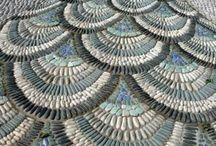 Mosaic/Patio Stone/Birdbath/Leaf Casting