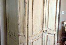 wardrobe handpainted