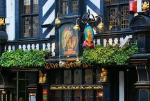 English pubs & inns / I really adore these English pubs!! The names, the signs so funny!! Most of them are historical ancient places