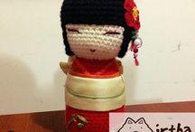 Kokeshi doll / Amigurumi kokeshi doll