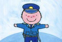 Kleuters Thema: Politie / Knutsels en andere leuke les-/ ideetjes rondom het thema Politie