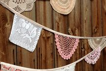 Doilies! / Doilies are so pretty  - not just for weddings or tea parties, use them in craft projects too.