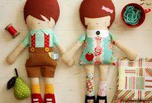 muñecos telas
