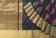Banarasi Tussar Silk Saris