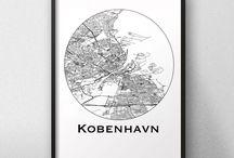 Affiches de ville Danemark