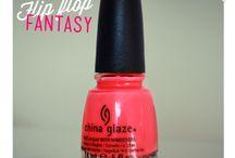 Nail polish by China glaze, flip flop fantasy.
