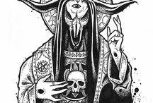 Projets Tattoo et Dessins / Dessins, illustations d'Adrien Boettger (Bad Skull Company), tatoueur chez les derniers trappeurs.