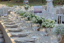rustic wedding decor / wedding flower decor ideas