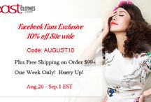 Eastclothes Promotions / Promotions, Discount Code...Cheap Clothes from China, Korea, Japan and more Asian Fashion coupon...