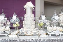A&K Lolly Buffet {Elegant Silver & White Wedding Dessert Table} / http://aandklollybuffet.com.au/elegant-silver-white-wedding-dessert-table/