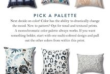 Pillow Inspiration / modern eclectic bright and light home design boho decor california casual cool home inspo