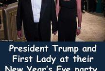 US President Donald Trump & Family in Weißen Haus