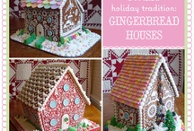 Bake Gingerbread Houses / Almost too beautiful to eat and so inspiring I just might actually make one.