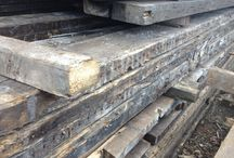 Reclaimed wood timber yards / This is one of the timber yards we source our wood from, turning these reclaimed timbers into the gorgeous Mac+Wood table and matching benches
