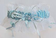 Svadobné podväzky / Niečo modré, niečo drobné ...  svadobné poväzky