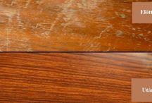 Bútor ápolás / Hozzávalók:      fél pohár ecet     fél pohár olívaolaj  A hozzávalókat keverjük össze és kenjük a bútor karcolt felületeire. Alaposan kenjük át, ha kell többször is dörzsöljük át, hogy a keverék beivódjon az apró kis repedésekbe.