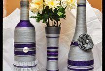 декор бутылок / декорирование бутылок ваз органайзеров