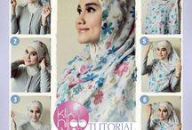 tutorial square hijab
