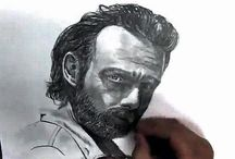 Art, drawing, sketches / How to draw Rick Grimes from THE WALKING DEAD