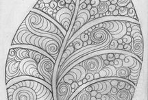 zentangle patterns / drawings and patterns