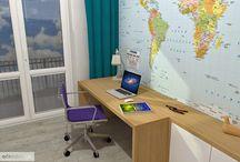 Dětský pokoj pro Zbyňka / jak navrhnout dětský-studentský pokoj pro devítiletého chlapce? Zde máte inspiraci :)