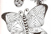 Vlinders en Bloemen / Voorbeelden-sjablonen