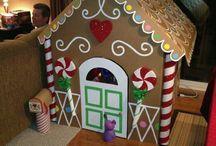 gingerbread house - cardboard