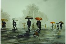 watercolor painting /  watercolor painting By Tapos Das