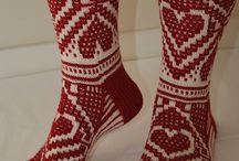 kanaviçe desenli çoraplar