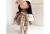 Кукла тильдаголовка.