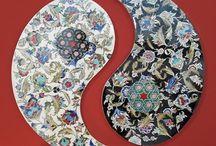Modern Minyator and tazhib paintings