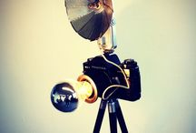 Lights, Camera, Action! / Upcycled Camera lamps by Briight Vintage&Bulbs #Design #Briight #Vintage #Lighting #Lamps
