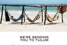 Escape to Tulum / We're sending one lucky winner + a friend to Tulum for two days, where you can do yoga and hang out in BIKYNIs all day. Namaste.    Enter to win here: http://us6.campaign-archive1.com/?u=b31742abc54b08747a605552a&id=03c9a36e6b&e=438ba86efd