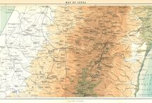 Maps of Ancient Israel / Public domain maps of the land of Israel