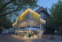 Mc Donald's Coolsingel 44 Rotterdam / Europe's fanciest McDonald's -  McDonald's invited Mei architects and planners to design a new pavilion on this spot with a character in keeping with the (renewed) Coolsingel and the rich historical surroundings. After a very fast construction time of two months a spectaculair new pavilion now shines in the heart of Rotterdam.