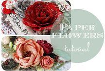 papierowe kwiatki
