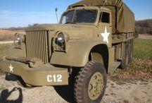 Old U S military vehicles