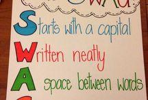 Teaching - punctuation, spelling, grammar.