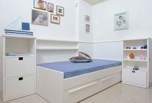 ΠΑΙΔΙΚΟ ΔΩΜΑΤΙΟ - KIDS ROOM / Μοντέρνο παιδικό δωμάτιο με λευκά λακαριστά έπιπλα.