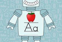 kinder...robot classroom theme
