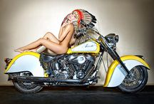INDIAN MOTORHEADS MOTORCYCLES WITH NATIVE WOMAN PURE BEAUTY ...