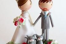 Inspiration - Sweet / Cake topper figurines peg doll kokechi