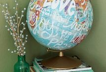 Love the Earth / Altered projects with globes
