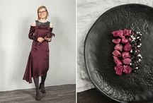 Julia Janus Challenge For Food Bloggers / Famous food bloggers took the challenge by Julia Janus - to create a dish matching the silky dresses.