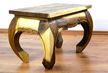 Opium Coffee Tables / Made in Thailand these unique wooden pieces of furniture exude eastern charm