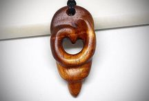 Wood  jewelry / Wood jewelry designed and carved by me.