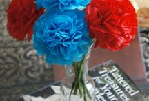 Red & Turquoise Party Inspiration! / Look at all the wonderful things that a red & turquoise paper flower bouquet can accompany! I created this board for inspiration to those of you who love the color combination of Red & Turquoise!